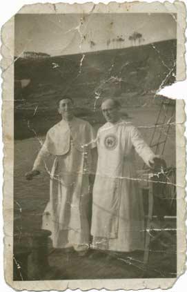 Restauración de fotos. Fotografía muy dañada. Original de los años 40