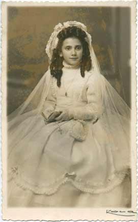 Restauración de fotos. Fotografía dañada. Original año 1949